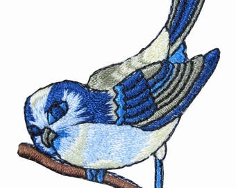 Embroidered Patch Blue Bird Iron on Sew On Applique