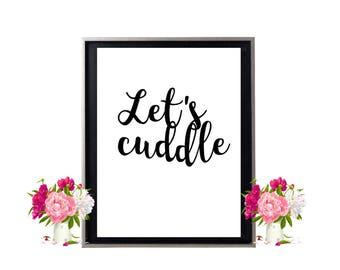 Let's cuddle print