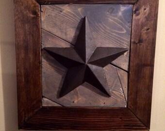 Rustic star wall decor