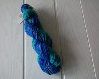 Handspun yarn/Polwarth wool/Mulberry silk/146m/102g/3ply/worsted weight
