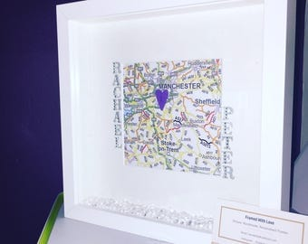 Couple Map Frame