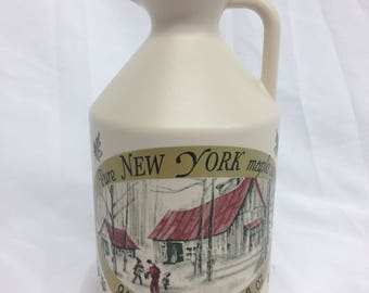 Pure NY Maple Syrup in a Quart Sized Jug