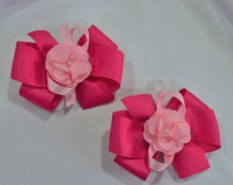Two Tone Pink Baby Bow Pair