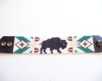 Bracelet Native American ground Bison