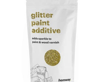 Hemway Glitter Paint Crystals Additive 100g for Emulsion - Gold