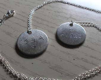 Personalized Stamp Necklace Custom Made