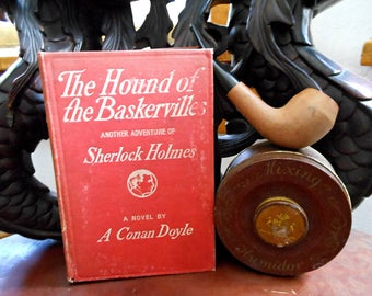 Sherlock Holmes Hound of the Baskervilles and Irish Seconds Smoking Pipe Gift Set, Tobacciana, Father's Day