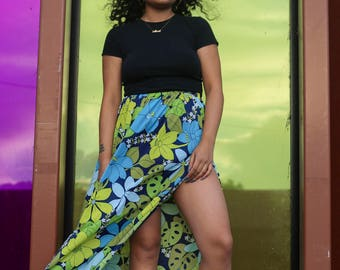 80s Speedo Floral Maxi Skirt