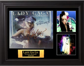 Lady GaGa Autographed lp
