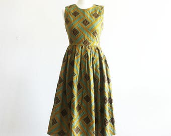 SOLD Cotton/silk/linen Fabric Dress