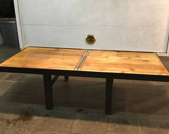 how to make a wine barrel dining table
