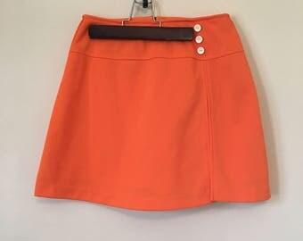 Vintage, bright orange mod skort.