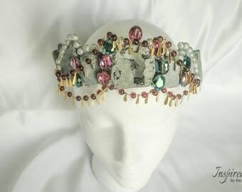 Stone Moon Goddess Crown - Inspired by the Goddess Achelois, A Minor Moon Goddess