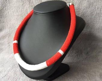 Beaded Necklace african zulu massai