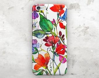 Floral iphone 8 case, iphone 8 plus case, iphone 7 case, iphone 7 plus case, Watercolor iphone 6s case, iphone 6s plus case, iphone 6 case