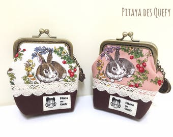 Kisslock frame coin purses