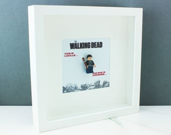 The Walking Dead Lego Picture Frame with Custom Negan Mini Figure