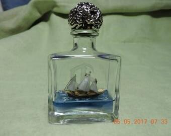 Xebec ship in a bottle