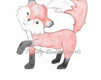 Little Fox print