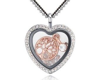 Crystal heart box tree of Life (Crystal reliquary)