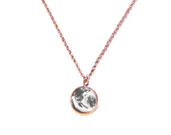 Rose gold plated chain with its own photo | Cabochon