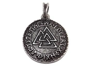 Chunky Wotans Odin Valknot (Valknut) Viking Rune Pendant