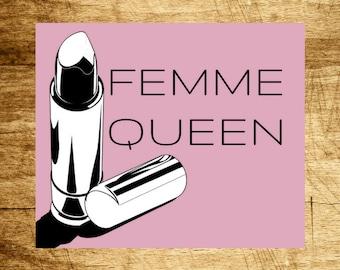 FEMME QUEEN sticker