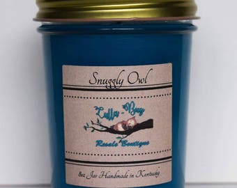 Snuggly Owl 8 oz candle