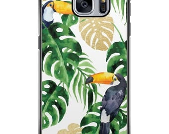 Shell Galaxy S5/S6/S7/S8 Tropical 03 black edges