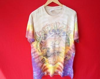 vintage Grateful Dead tie dye band large mens 90's t-shirt