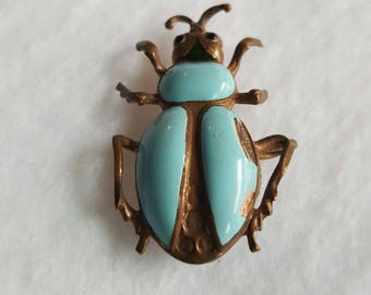 Vintage Enameleled Cute As A Bug Pin or Necklace