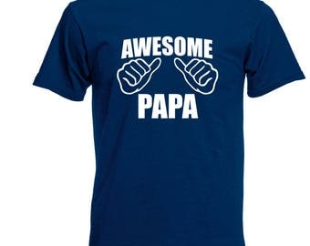 Awesome Papa T Shirt Father's Day Gift Dad Life Dad Papa Pop Papaw Pops Father Shirt Happy Father's Day Holiday Christmas Gift for Dad
