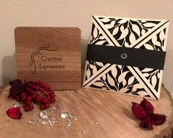 Beautiful laser cut wedding invitations handmade