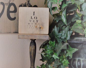 I love you with all my heart plaque
