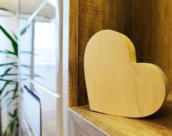 Herz Aus Holz Deko Herzchen Valentinstag Geschenk Geburtstag Hochzeit  Zimmerdeko
