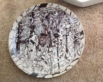 """Vintage Collectors Plate, 'Where Paths Cross' from """"Silent Journey"""" Series"""