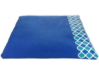 Organic | Zabuton | Meditation mat | Recycled cotton | basaho Blue Mat