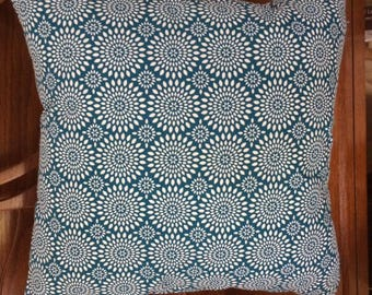 Custom Turquoise Blue Circles Pillow Cover