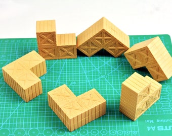 FIG-BOX x 6: FIGLot Prop Boxes for creating custom miniature diorama (6 Pack)