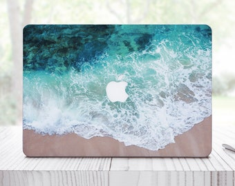 Wave Splash Sticker Mac Air 13 Mac Book Air Sleeve For Pro Retina 13 Sleeve Blue MacBook 12 Case For Laptop Ocean Skin Mac Air 11 ES0119
