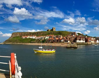 Summer in Whitby, England (color)