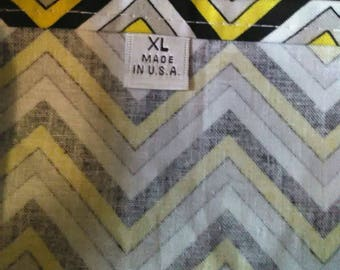 XL Chevron Yellow Black & White