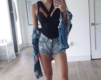 Black Bustier Bodysuit