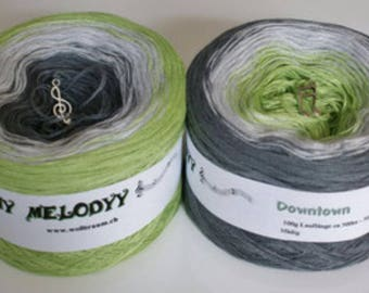 Wolltraum 'Down Town' 3 Ply Gradient Yarn