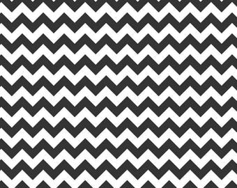 Chevron Black Small Cotton Fabric - Riley Blake Fabrics - Perfect for Nursery, Clothing, and Quilts