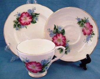 Vintage 1980s Tea Set Bone China English Duchess Matching Trio China teacup, china saucer,china tea plate,vintage china,afternoon tea party