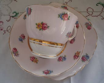 Vintage 1940s Colclough Bone China Trio Tea Cup,China Saucer,China Tea Plate for Vintage Tea Party