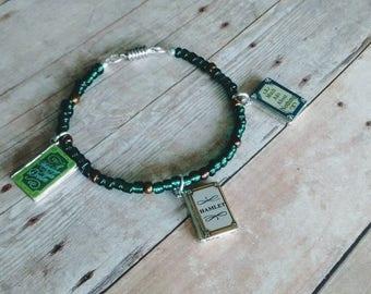 Shakespeare Novel Charm Bracelet