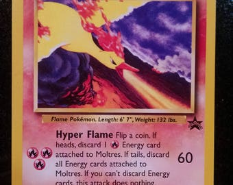 Rare Vintage Promo Moltres Pokemon Card