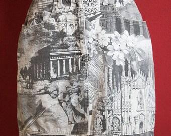 MOSCHINO JEANS Milano Print Denim Skirt size L